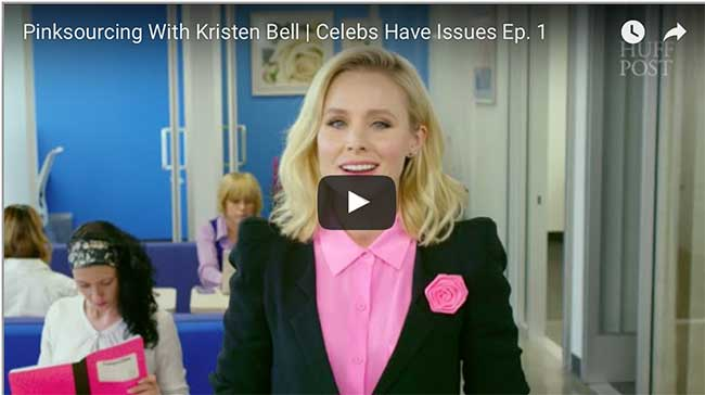 Kristen Bell mocks the gender pay gap in hilarious short film