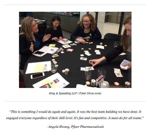 King & Spaulding LLP / Poker Divas event