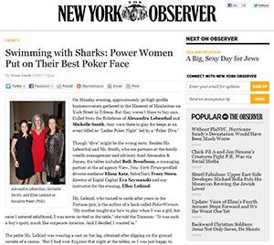 New York Observer: Power Women Put on Their Best Poker Face