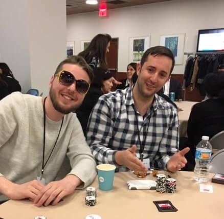 Poker Divas - two men showing cards