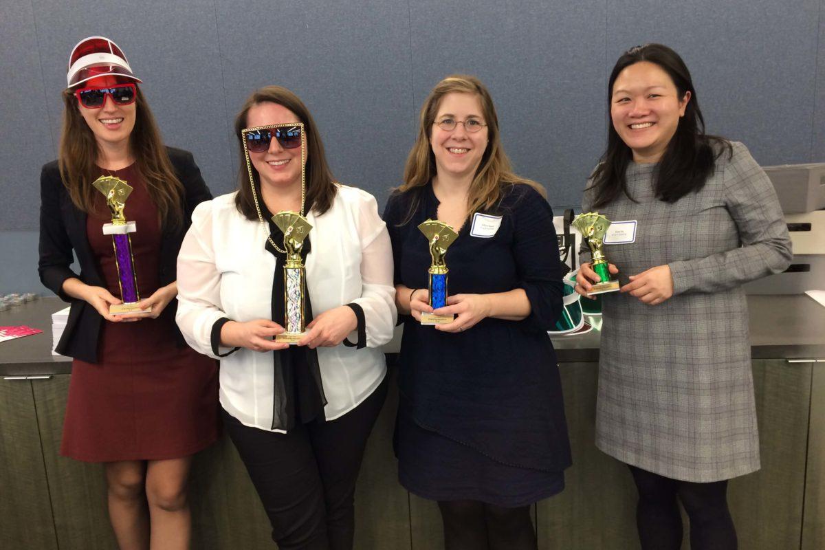 Poker Divas - Four women with prizes