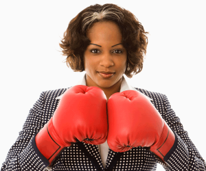 Poker Divas - woman with boxing gloves