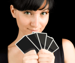 Poker Divas - woman with cards