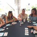 Poker Divas - women playing cards outdoor