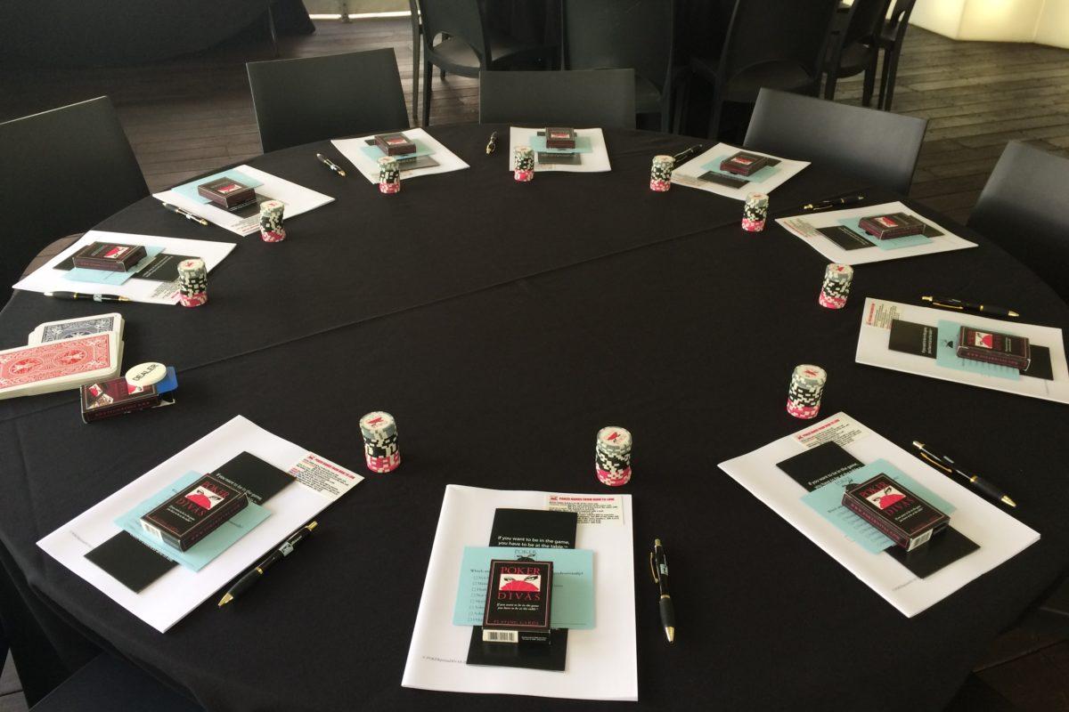 Poker Divas - Poker table