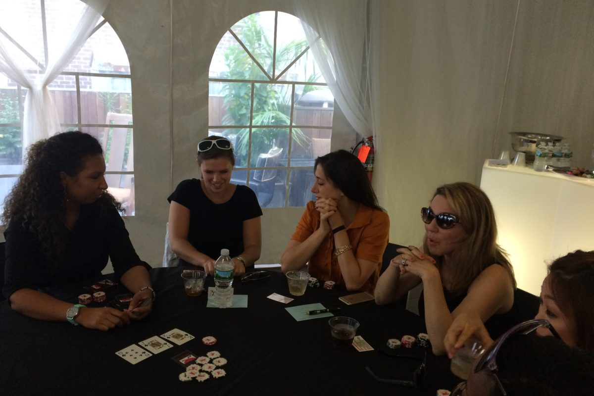 Poker Divas - one woman boards