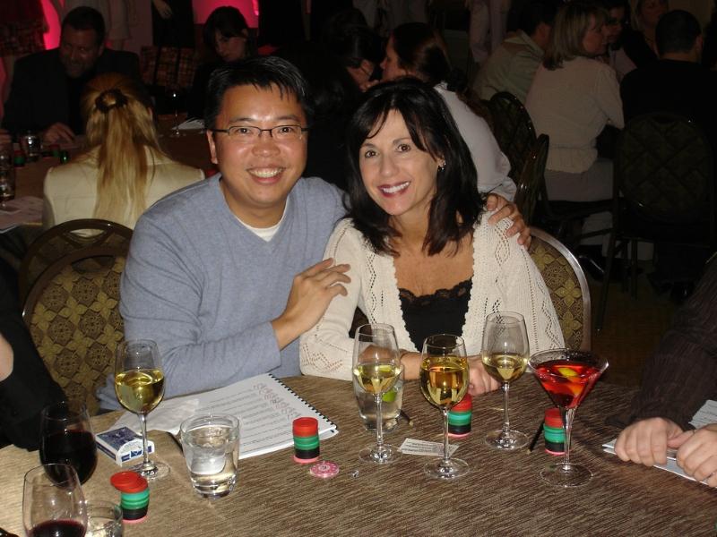 Poker Divas - Couple smiling
