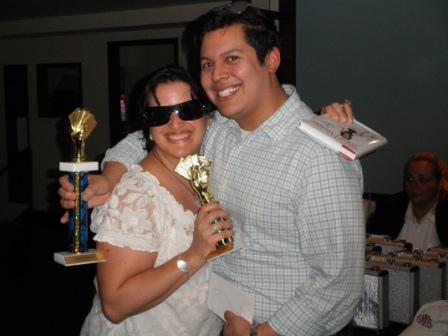 Poker Divas - Crowded eventcheerful couple