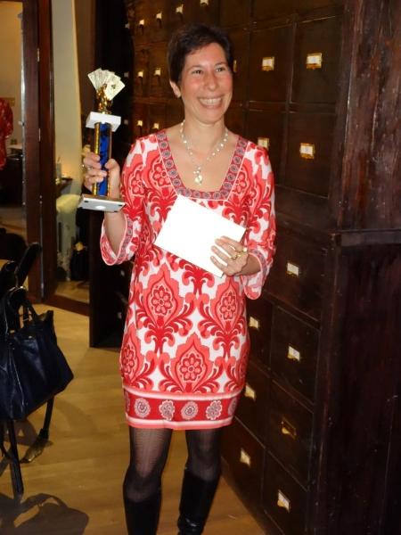 Poker Divas - Woman in red dress