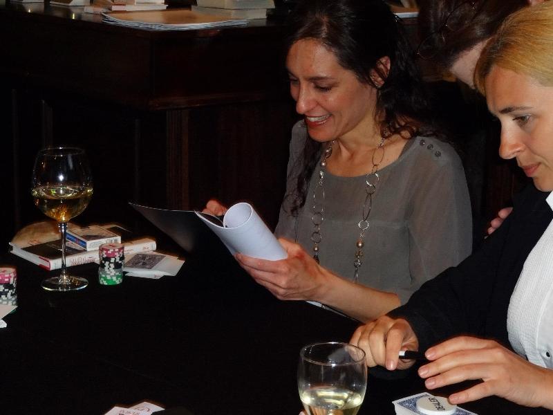 Poker Divas - Women holding leaflet