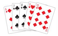 Poker Divas - poker hand straight