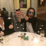 Poker Divas - A woman making fun