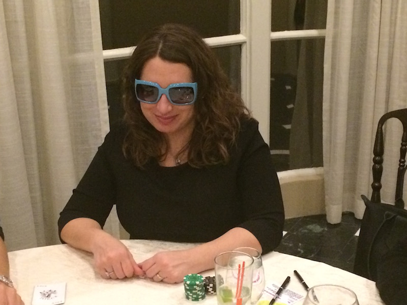 Poker Divas - Woman with blue glasses