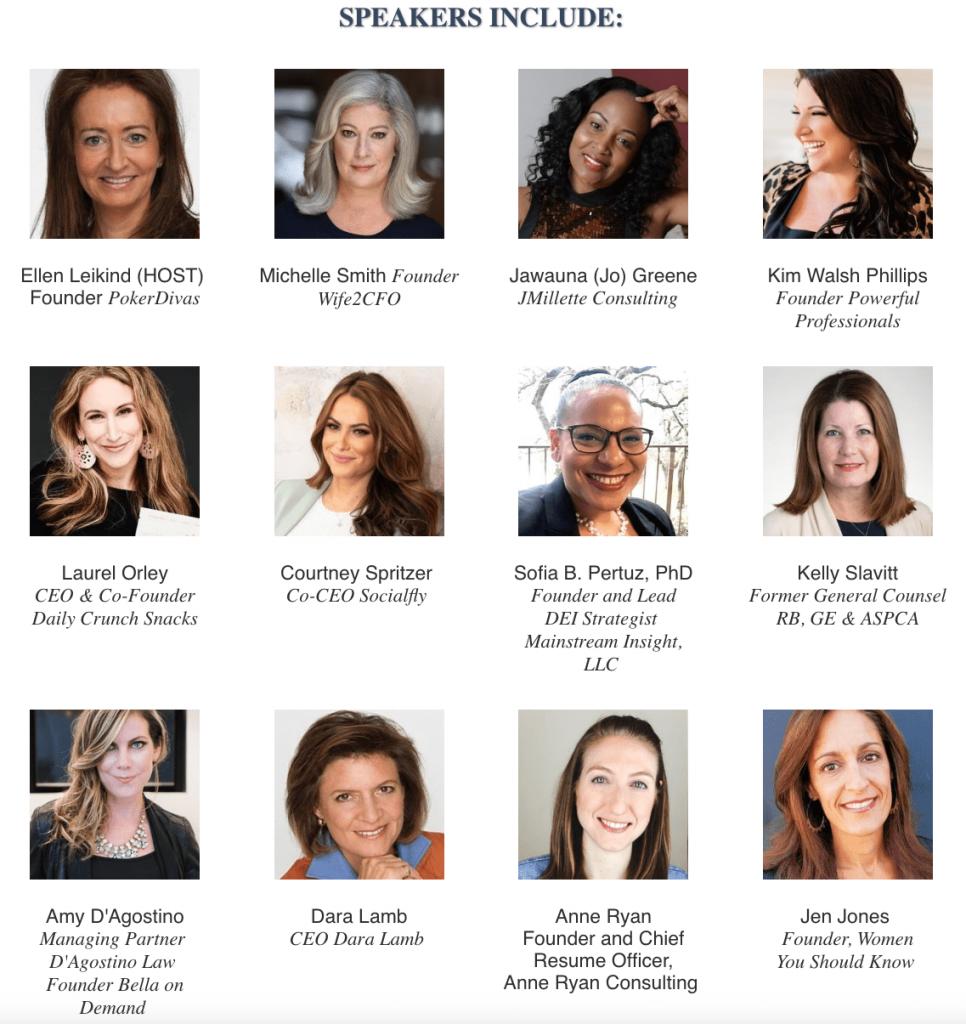 Women who play to win speakers. Ellen Leikind